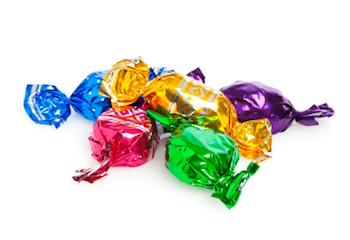 Hard Candy In Colorful Wrappers
