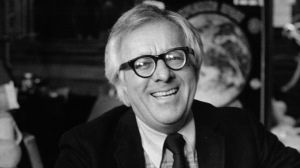 Ray Bradbury with his hands out, circa 1980. (Photo by Michael Ochs Archive/Getty Images)