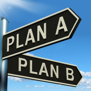 Plan A or B Choice Showing Strategy Change Or Dilemas